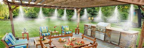 patio misters and fans