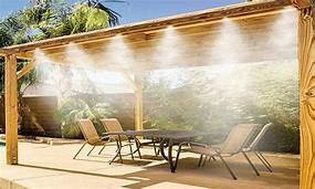 patio with misters