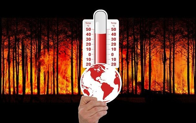 thermometer indicating global warming
